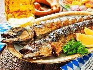Печена риба скумрия на скара